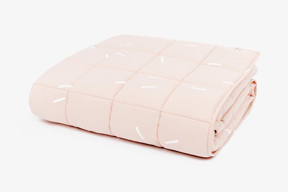 GRAYBlanket_Pink_whitestripes